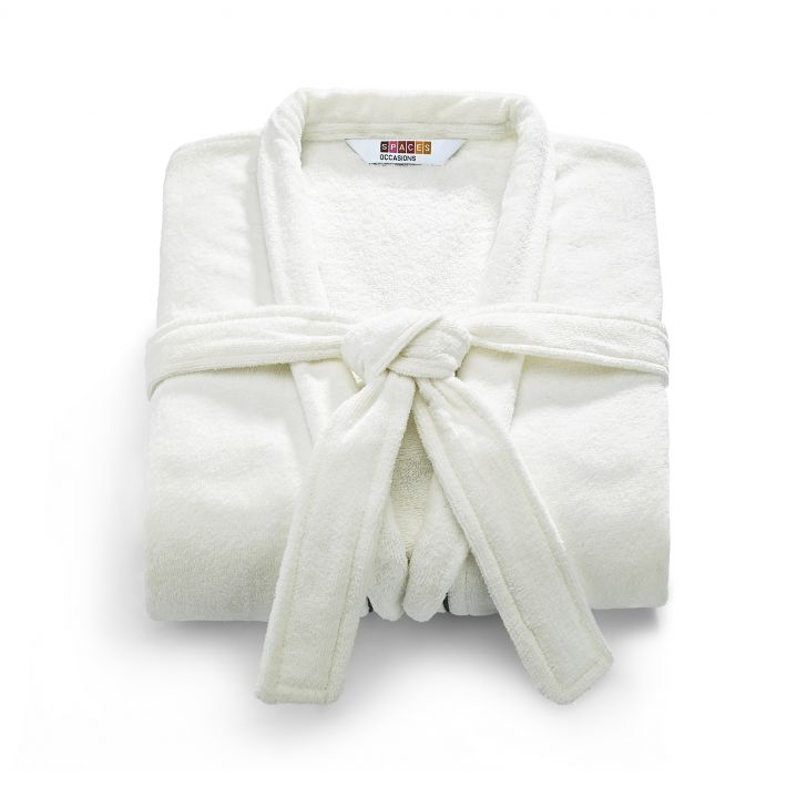 Spaces Exotica  Bath Robe<br />  White-Ash Large Bath Robe