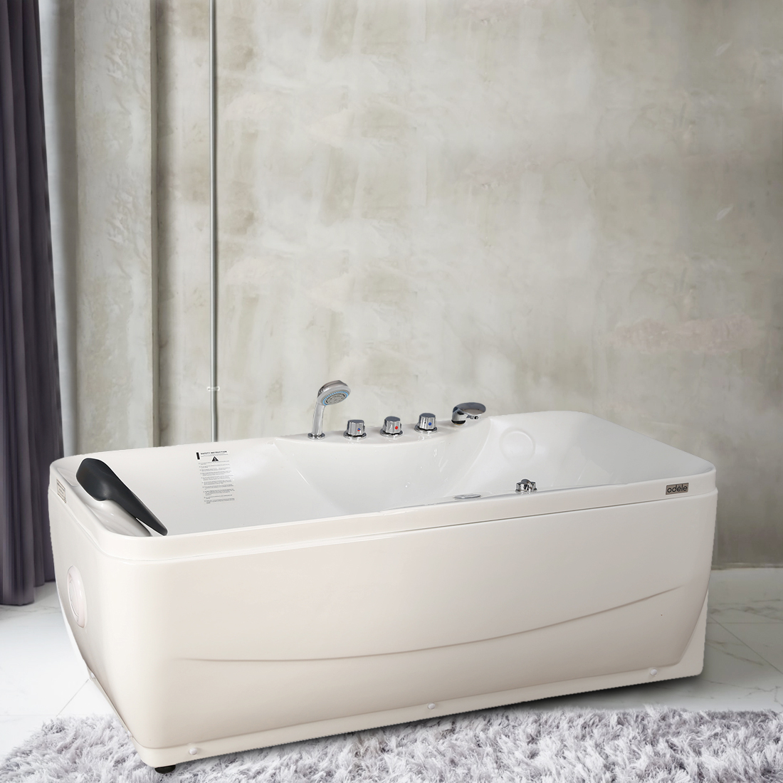 Briny Bath Tub in White Colour by HomeTown