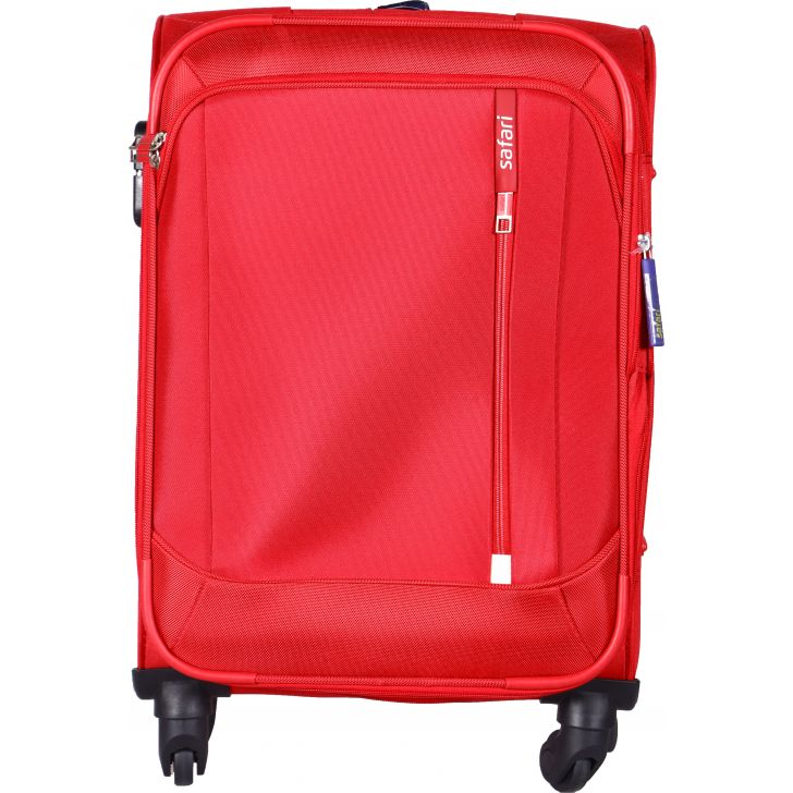 SAFARI STELLAR PolYester Soft Trolley in Red Colour by Safari