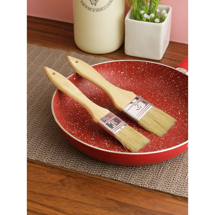 Bergner Stainless steel Pastry Brush in Brown Colour by HomeTown