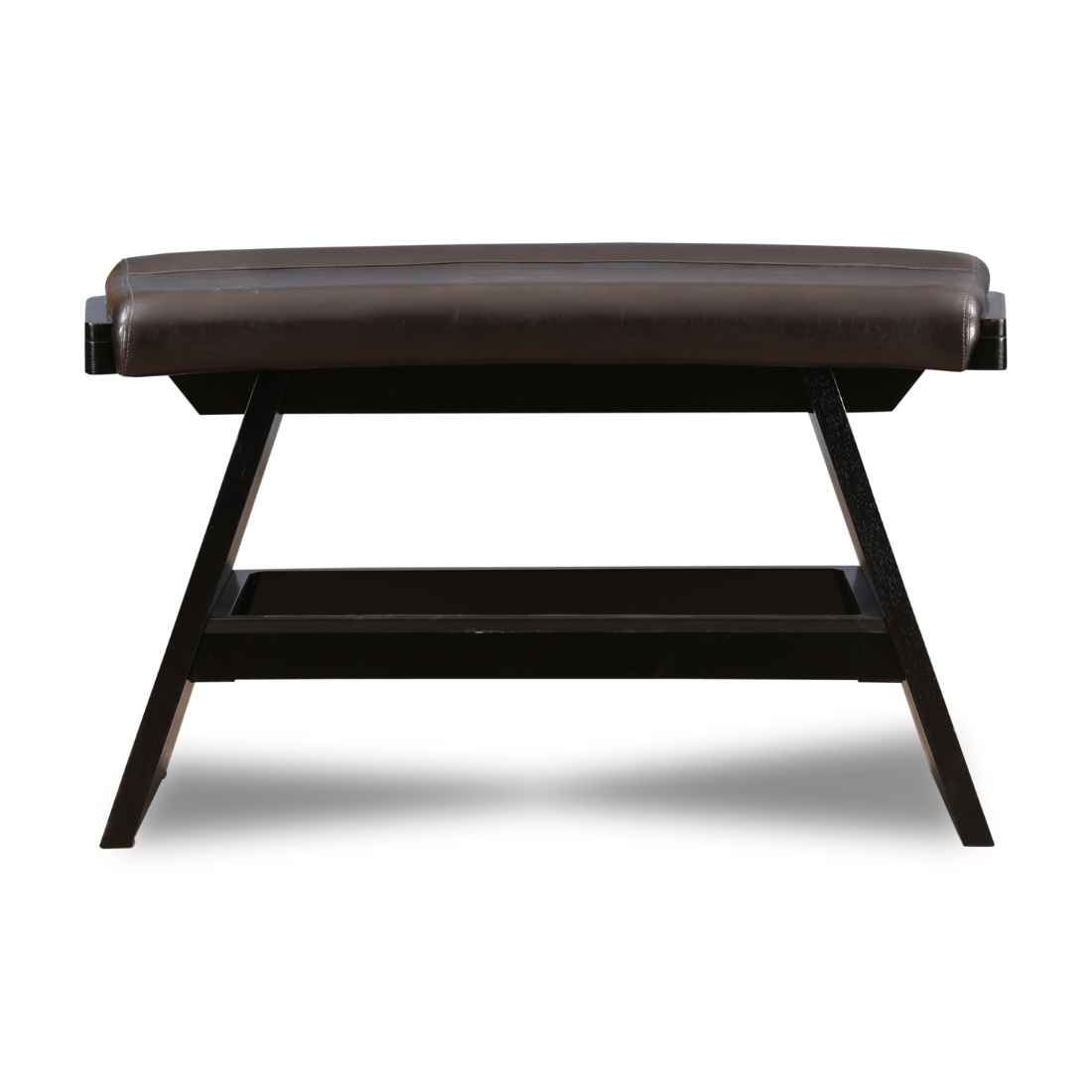 Anderson Solid Wood Dining Bench in Dark Brown Colour by HomeTown