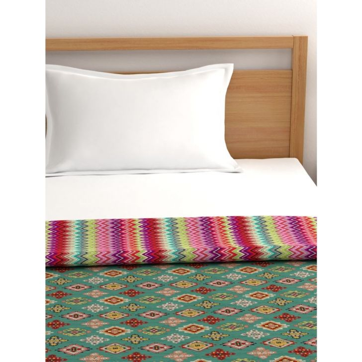 Portico New York Mix Don'T Match Single Dohar 224 cms x 137 cms in Multicolor Color by Portico