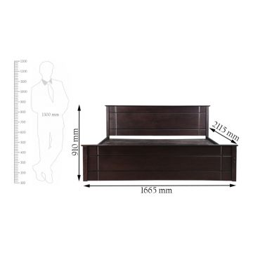 Zina Solid Wood Queen Size Bed in Cappuccino Colour by HomeTown