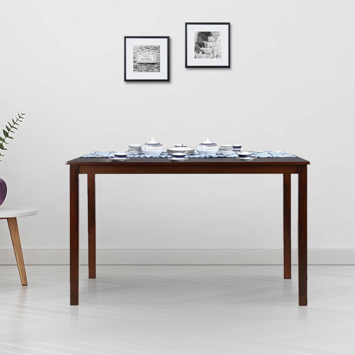 Stella Solid Wood Six Seater Dining Table in Dark Walnut Colour by HomeTown