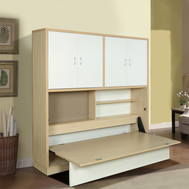 Rhodes Engineered Wood Single Bed in Doughlas Pine & Wenge & Frosty White Colour by HomeTown