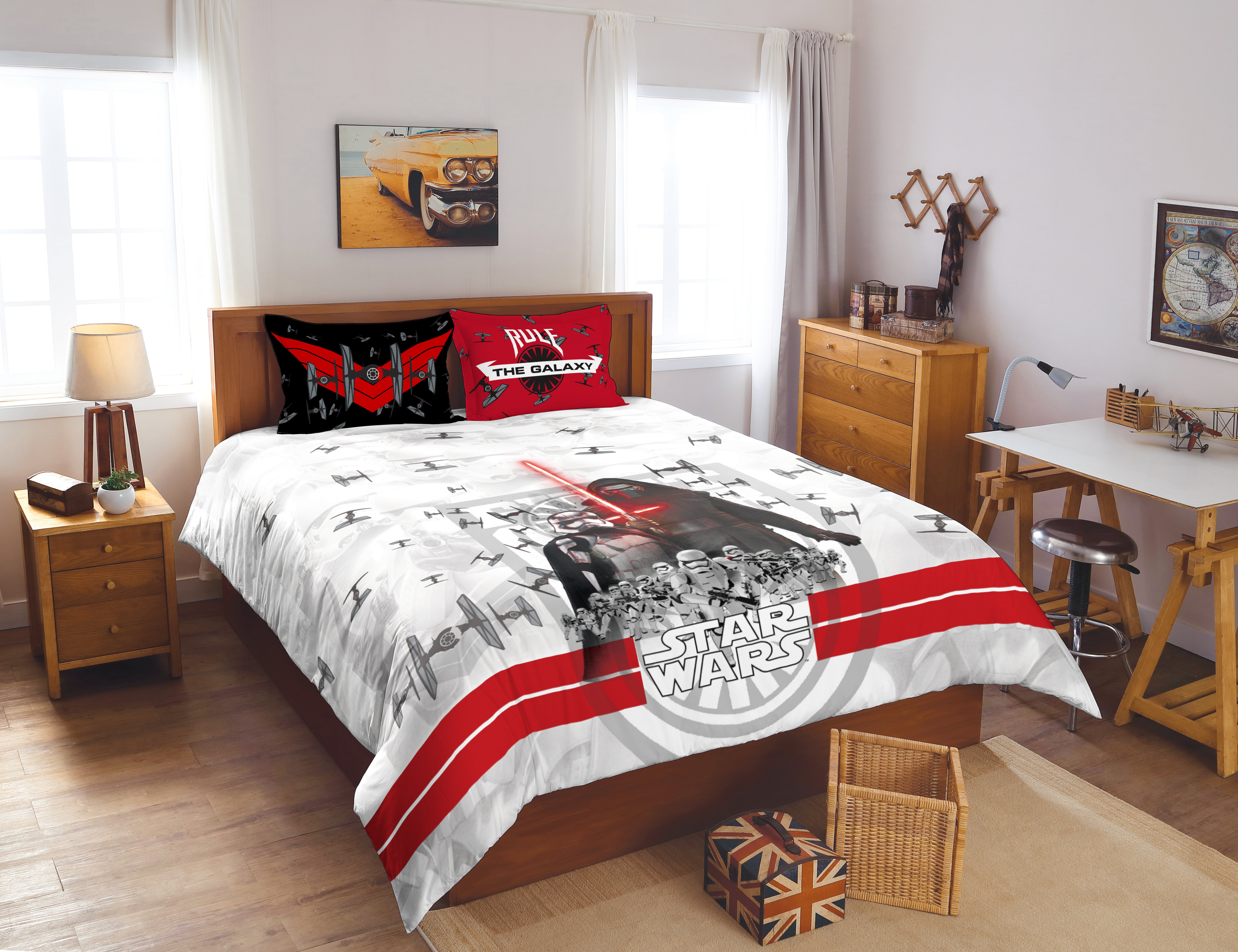 Spaces Starwars Cotton Double Bed Sheets in Grey Colour by Spaces