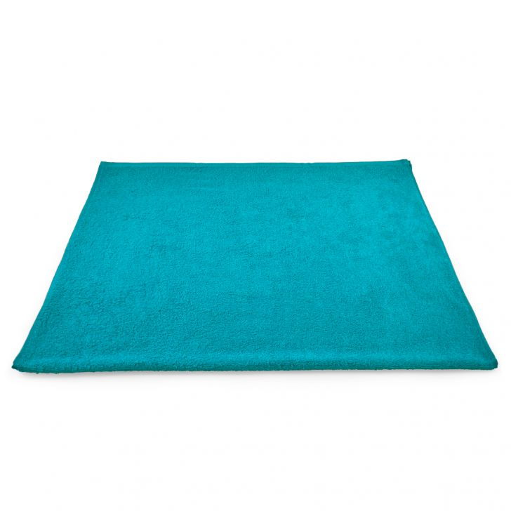 Fiesta Cotton Bath Towels in Teal Colour by Living Essence