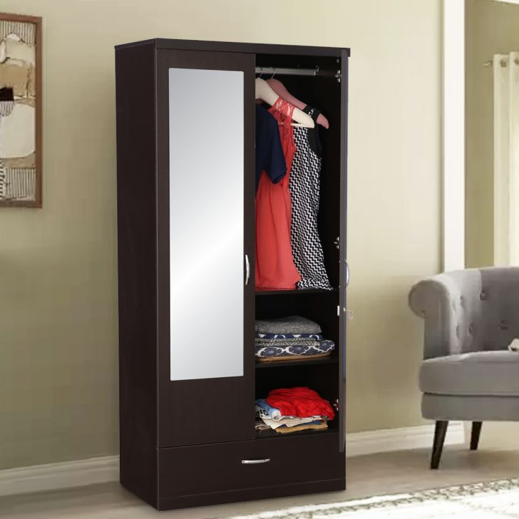 Utsav Engineered Wood Two Door Wardrobe in Wenge Colour by HomeTown