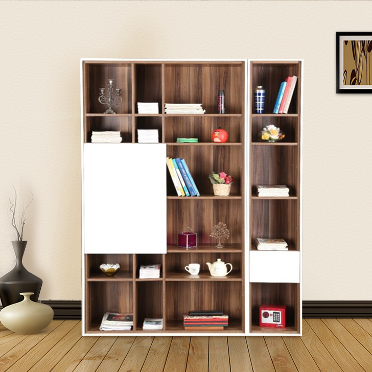 Fabiola Engineered Wood Book Shelf in Dual Tone Colour by HomeTown
