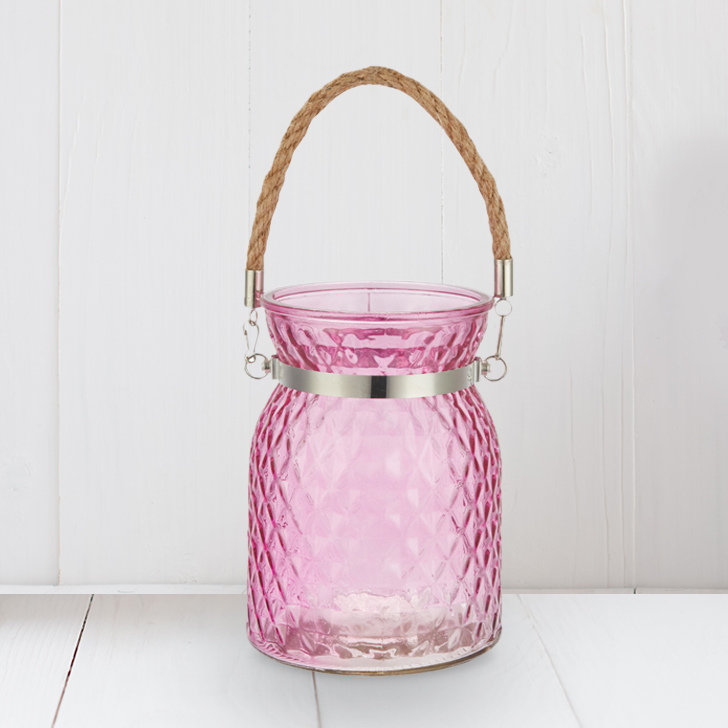 Meira Pink Lustre Vase With Handle