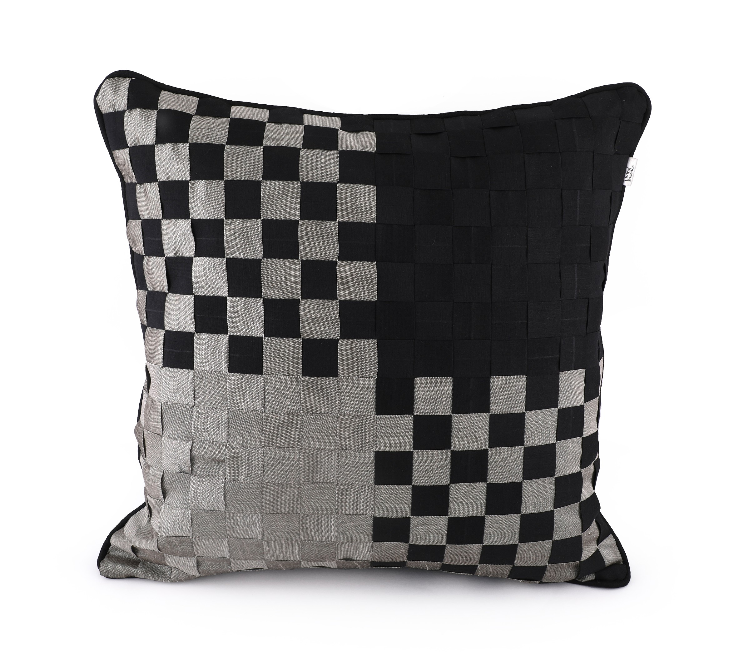 Basket Black Cushion Cover Cotton Cushion Covers in Black Colour by HomeTown
