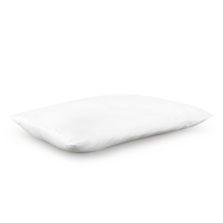 White Polyester Pillow 2 Pcs Polyester Fibre Pillows in White Colour by Living Essence