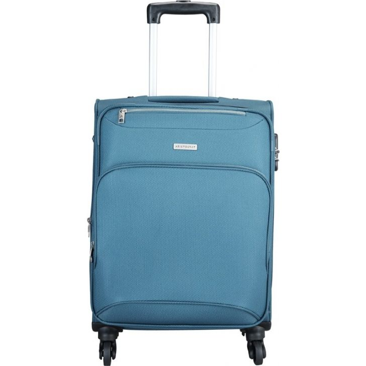 Valentina 59 cm Polyester Soft Trolley in Blue Colour by ARISTOCRAT