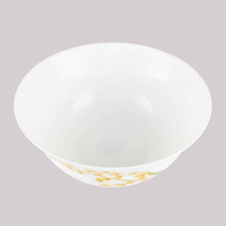 Diva Ivory Serving Bowl Yellow Grace Glass Serving Bowls in White Colour by Diva