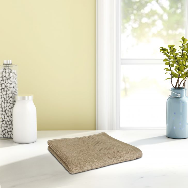 Spaces Cotton Face Towel in Camel Colour by Spaces