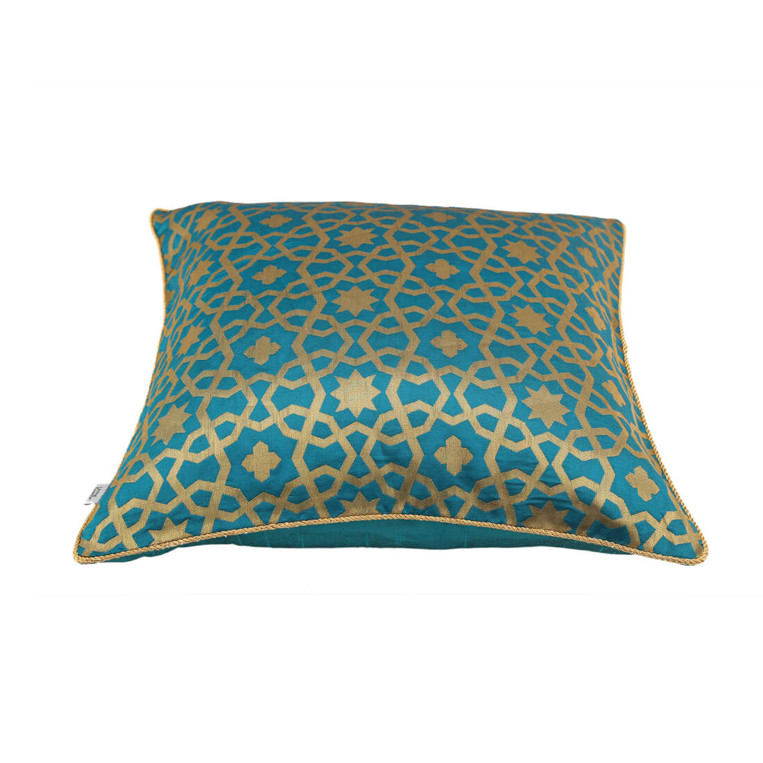 Royale Jaali Green Polyester Cushion Covers in Green Colour by Living Essence
