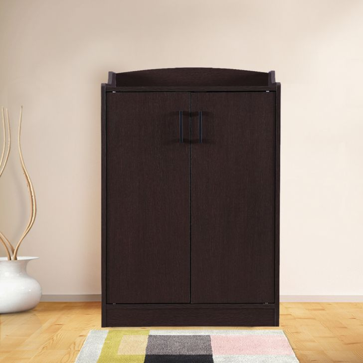 Cedar Engineered Wood Shoe Cabinet in Brown Colour by HomeTown