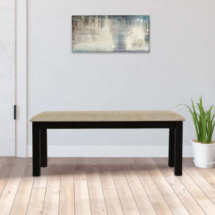 Flora Solid Wood Six Seater Dining Bench in Walnut Colour by HomeTown