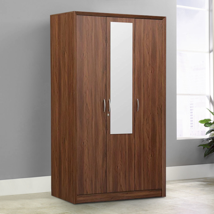Stark Engineered Wood Three Door Wardrobe in Particle Board Colour by HomeTown