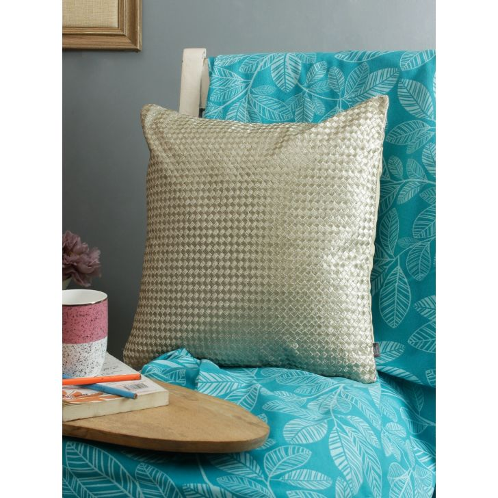 Living Essence Polyester Cushion Cover in Multicolour Colour by Living Essence