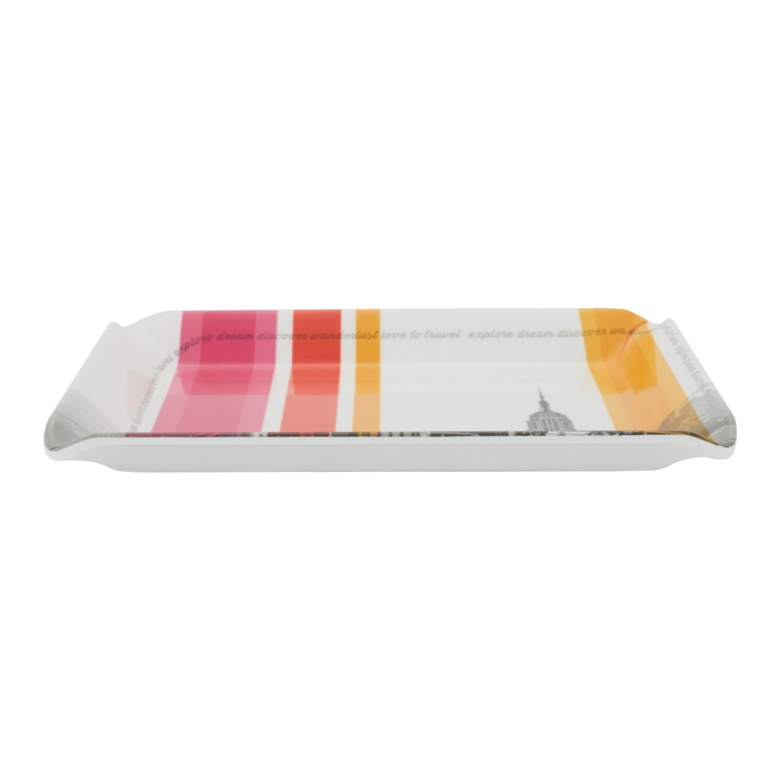 5Th Avenue Small Tray Food Grade Melamine Trays in Multi Colour Colour by Living Essence