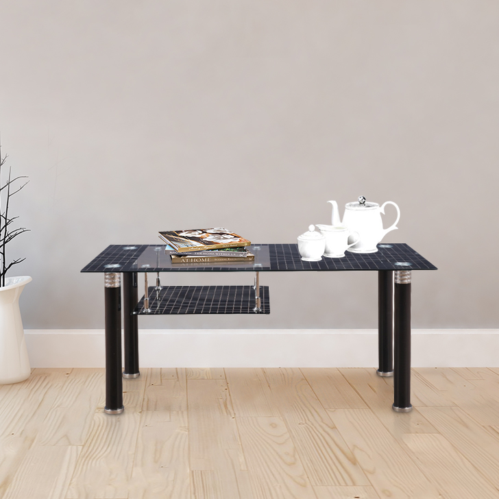 Ashton Glass Center Table in Black Colour by HomeTown