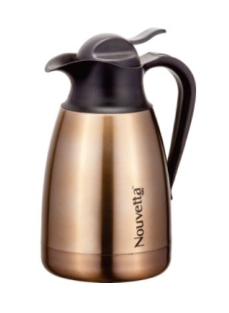 Nouvetta Rome Hot & Cold Coffee Pot 800 ML GOLD Stainless steel Thermoware in Gold Colour by Nouvetta