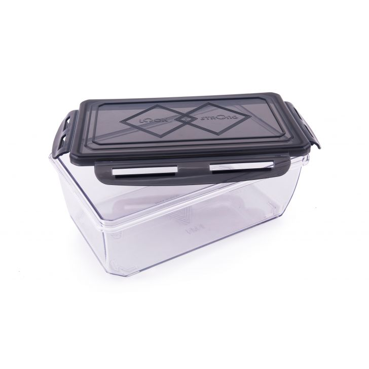 Clara Tritan Container 1100 Ml Plastic Containers in Black Colour by HomeTown