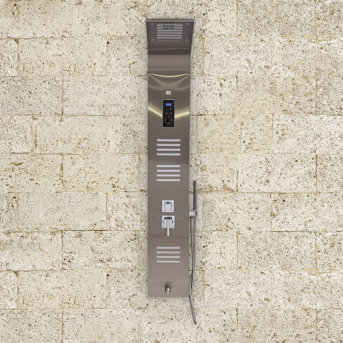 Divine Stainless steel Shower Multifunctions in Steel Colour by HomeTown