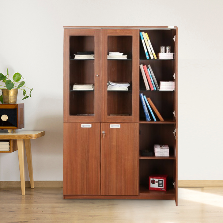 Nova Engineered Wood Book Shelf in Walnut Regato Colour by HomeTown