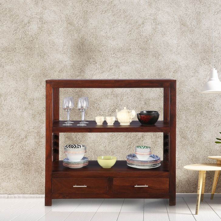 Forrest Sheesham Wood(Rosewood) Storage Sideboard in Brown Colour by HomeTown