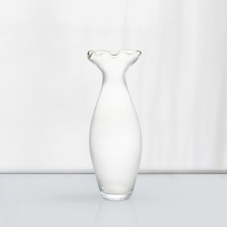 Nile Oval Glass Vase 30 Cm Glass Vases in CLEAR Colour by Living Essence