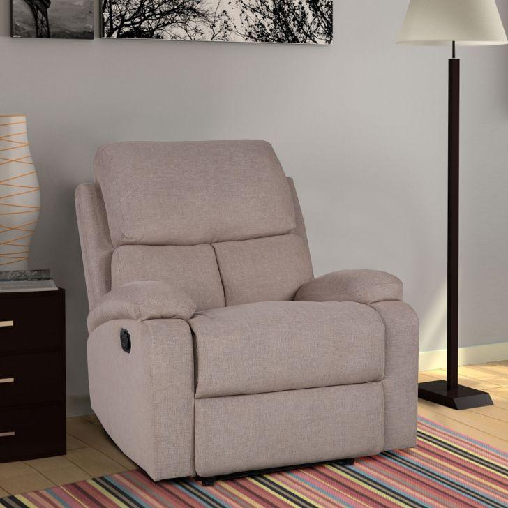 Premier Fabric Manual Recliner in Brown Colour by HomeTown