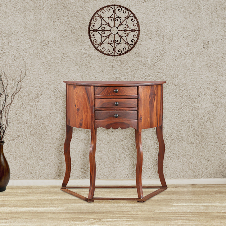Benjamin Sheesham Wood Console Table in Honey Colour by HomeTown