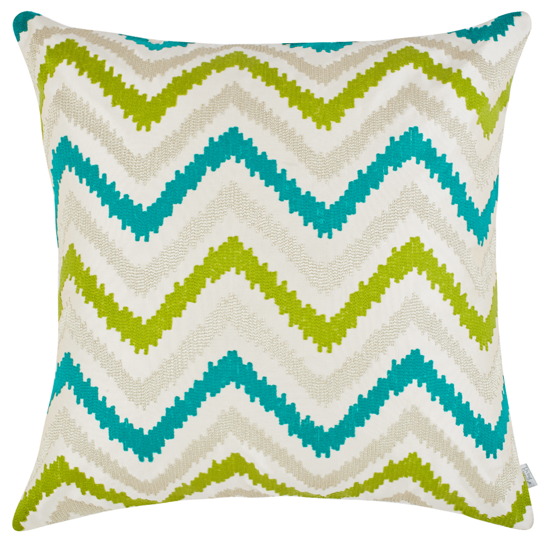 Chevron Polyester Cushion Covers in Citron Colour by Living Essence