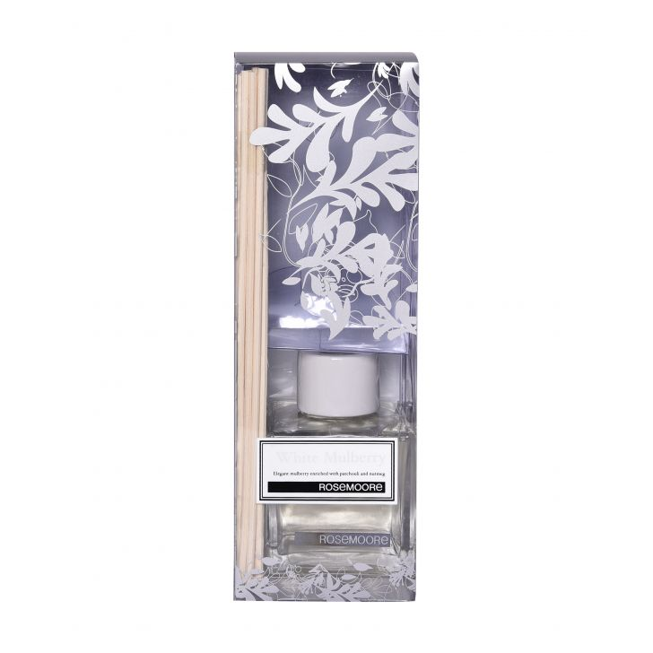 Rosemoore Scented Reed Diffuser White Mulberry Cloth Home Fragrances in Blue Colour