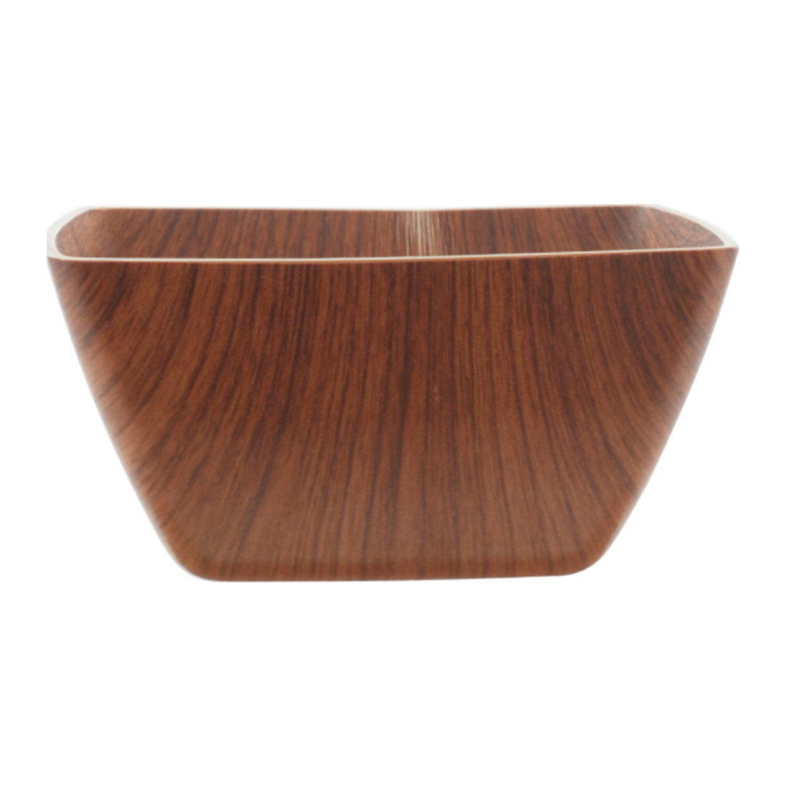 Oak Square Bowl Plastic Bowls in Wooden Finish Colour by Living Essence