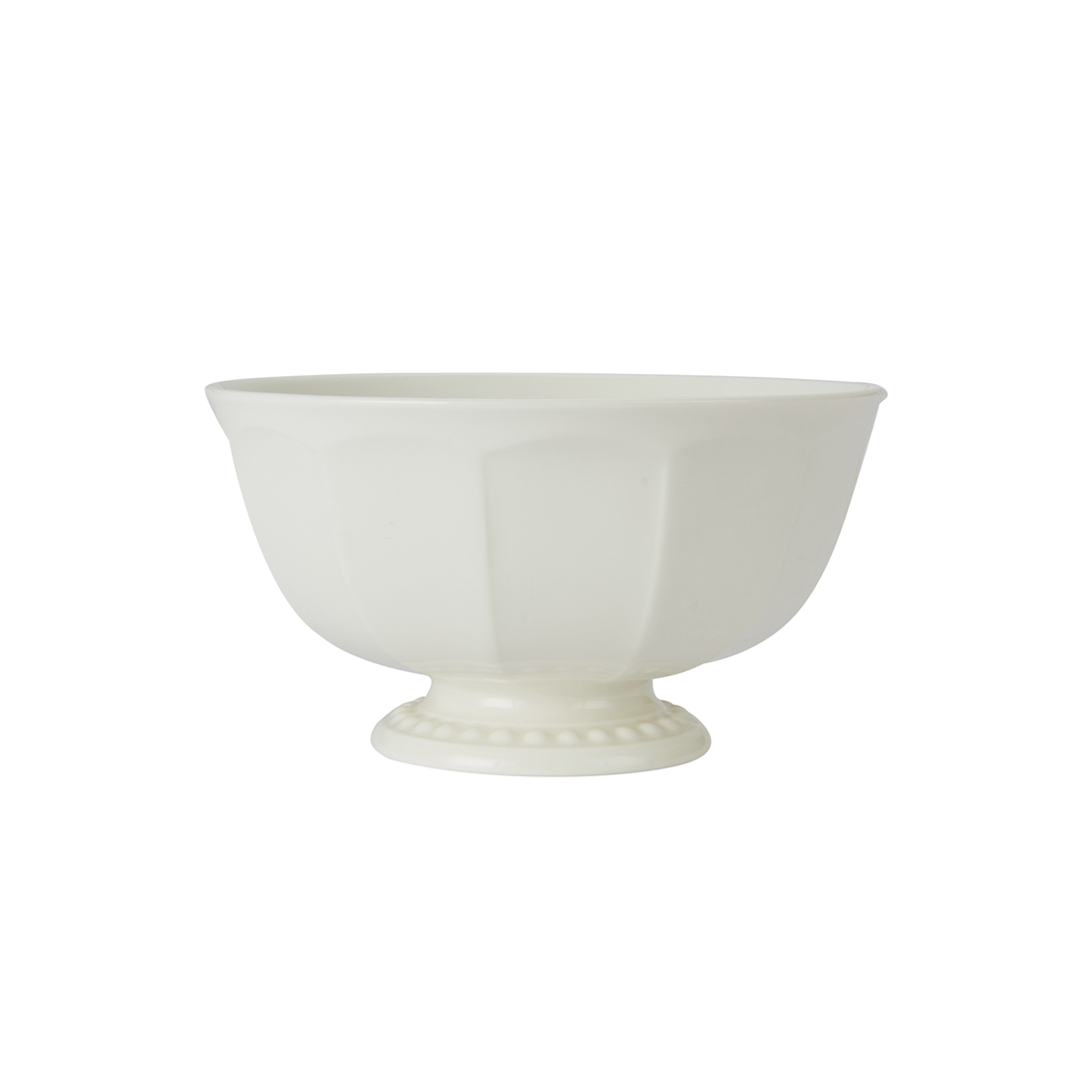 Florence Veg Bowl 12 Cm Ceramic Serving Bowls in White With Gold Line Colour by Living Essence