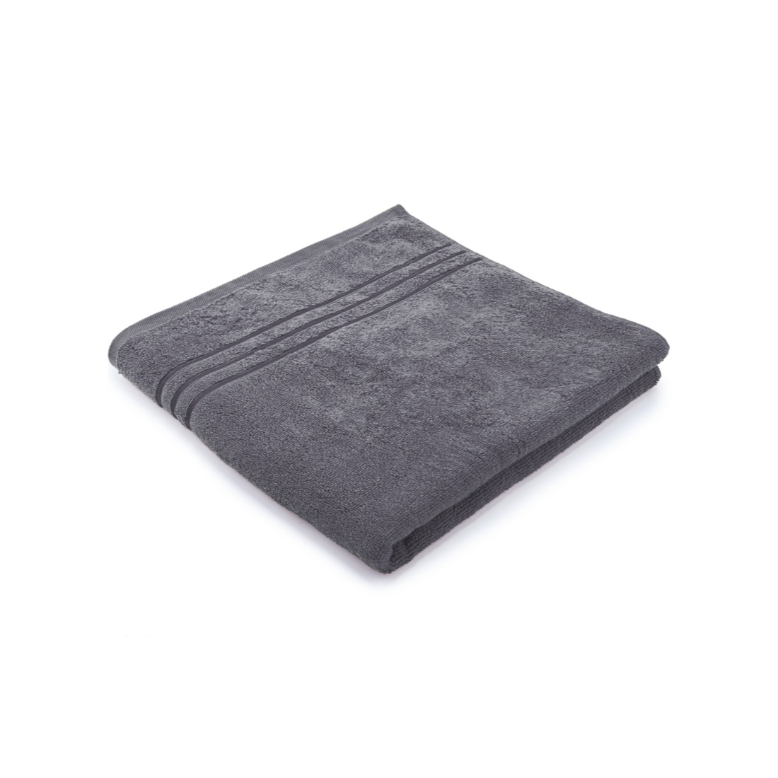 Bath Towel 70X140 Nora Grey Combed Cotton Bath Towels in Grey Colour by Living Essence