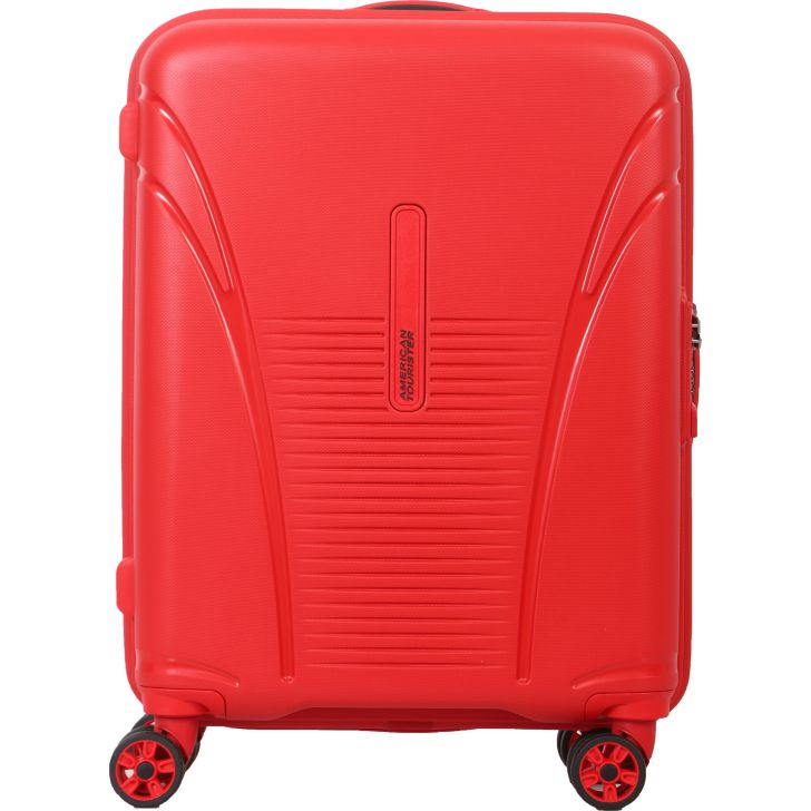 American Tourister Skytracer Plus Spinner 55 CM Hard Trolley (Red)