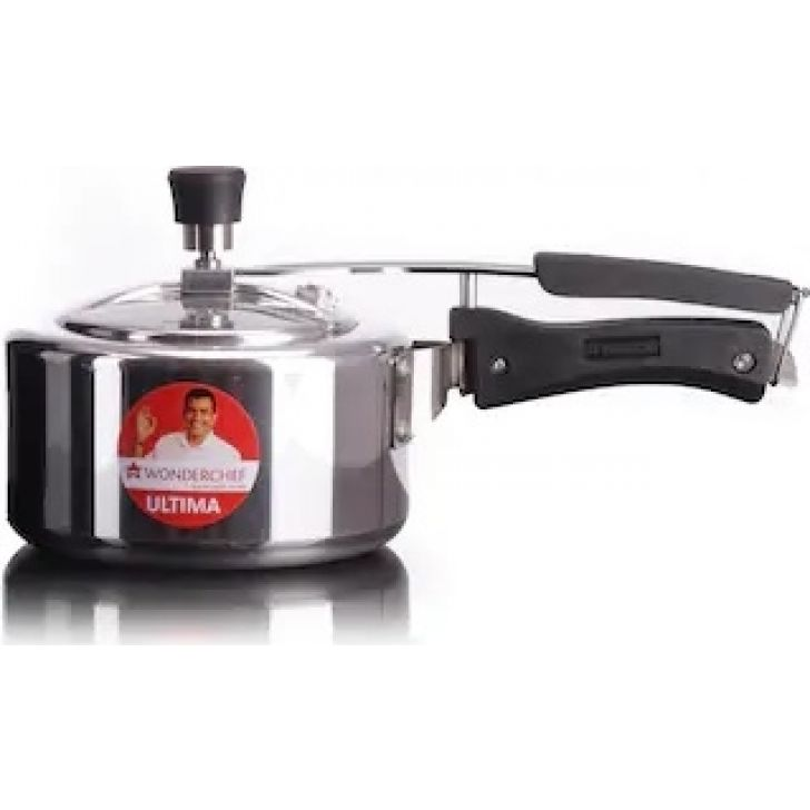Ultima Inner Lid -2 Ltr Aluminium Pressure Cooker in Silver Colour by Wonderchef