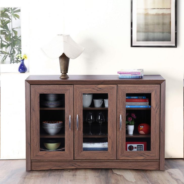 Stark Engineered Wood Storage Sideboard in Walnut Colour by HomeTown