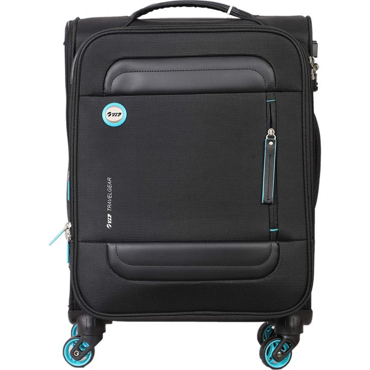 Curtis 57 cm Polyester Soft Trolley in Black Colour by VIP