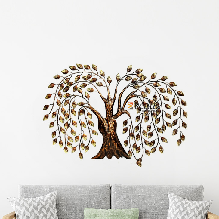 Talur Tree Iron Large Wall Accents in Mettalic Brown Colour by Royce