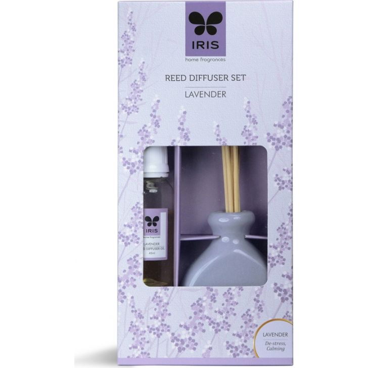 Reed Diffuser Set Ceramic With Reeds Small in Lavender Colour
