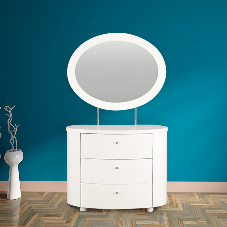 Legend Engineered Wood Dressing Table in White Colour by HomeTown