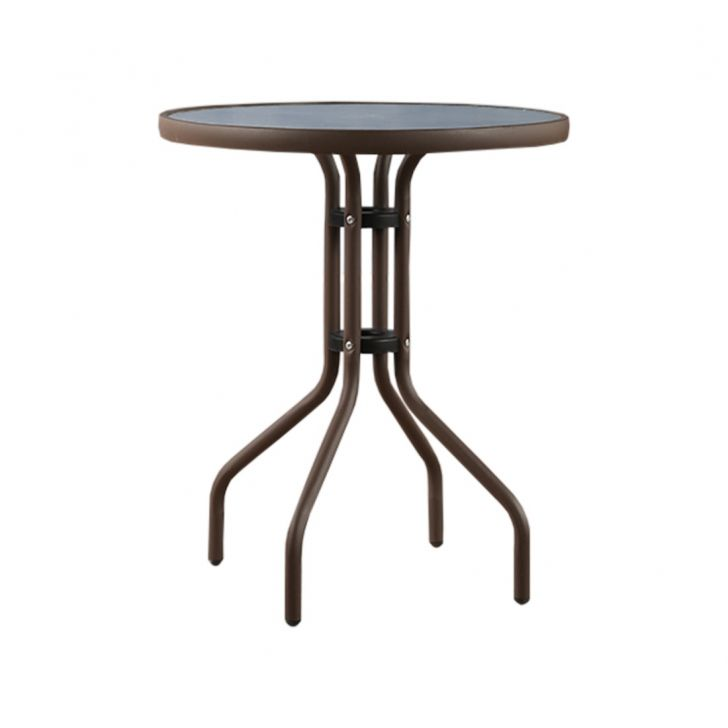 Carmo Stainless steel Outdoor Table in Rose Gold Colour by HomeTown