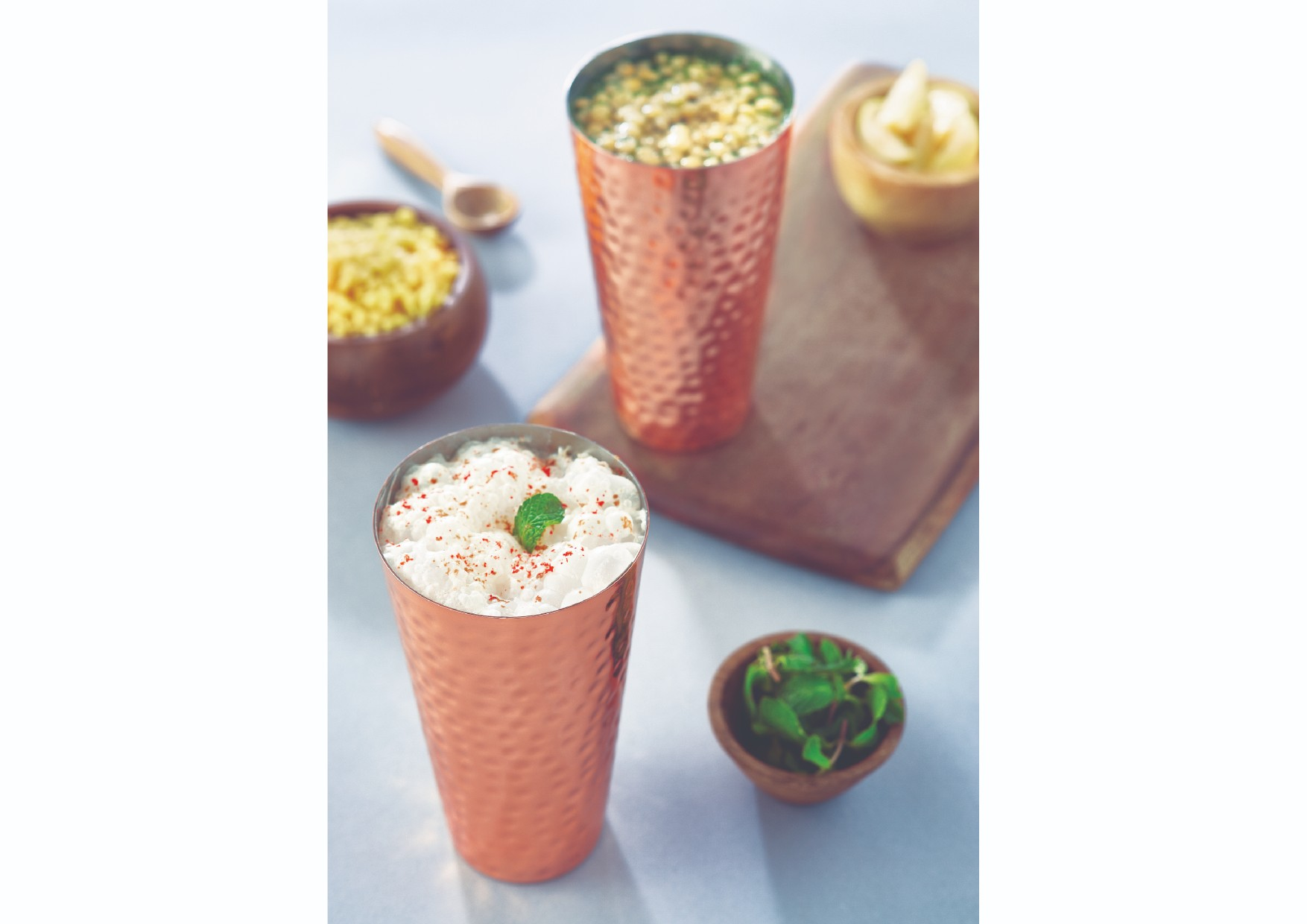 Songbird Copper Lassi Glass Large Stainless steel Glasses & Tumblers in Copper Colour by Songbird