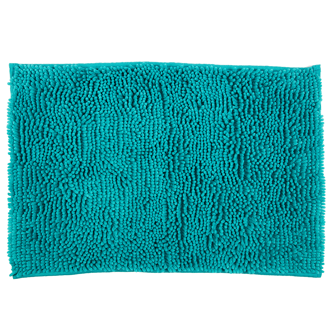 Bath Mat Nora Chenille Turquoise Chenille Bath Mats in Turquoise Colour by Living Essence