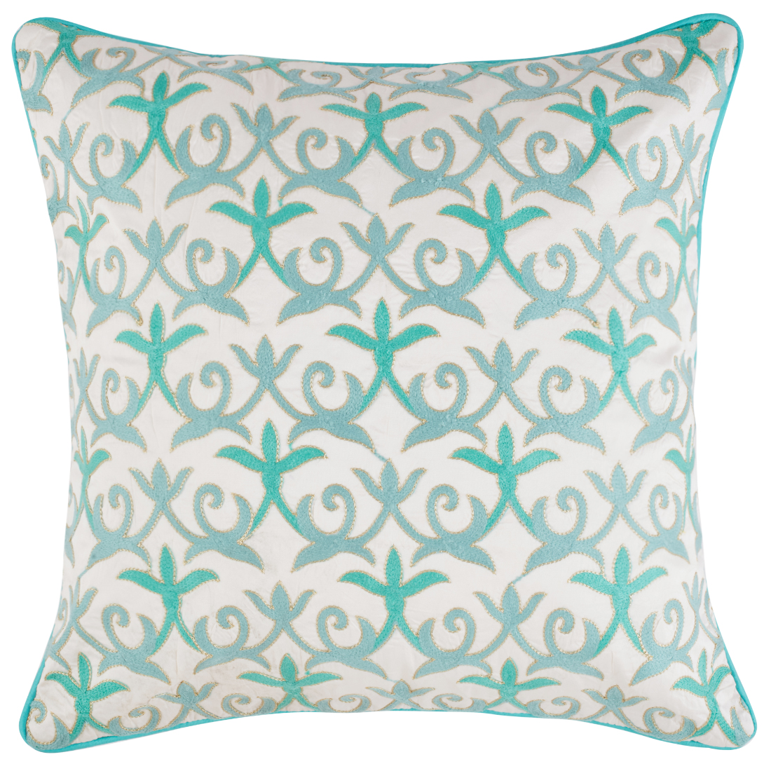 Palace Life Jaal Polyester Cushion Covers in White Colour by Living Essence